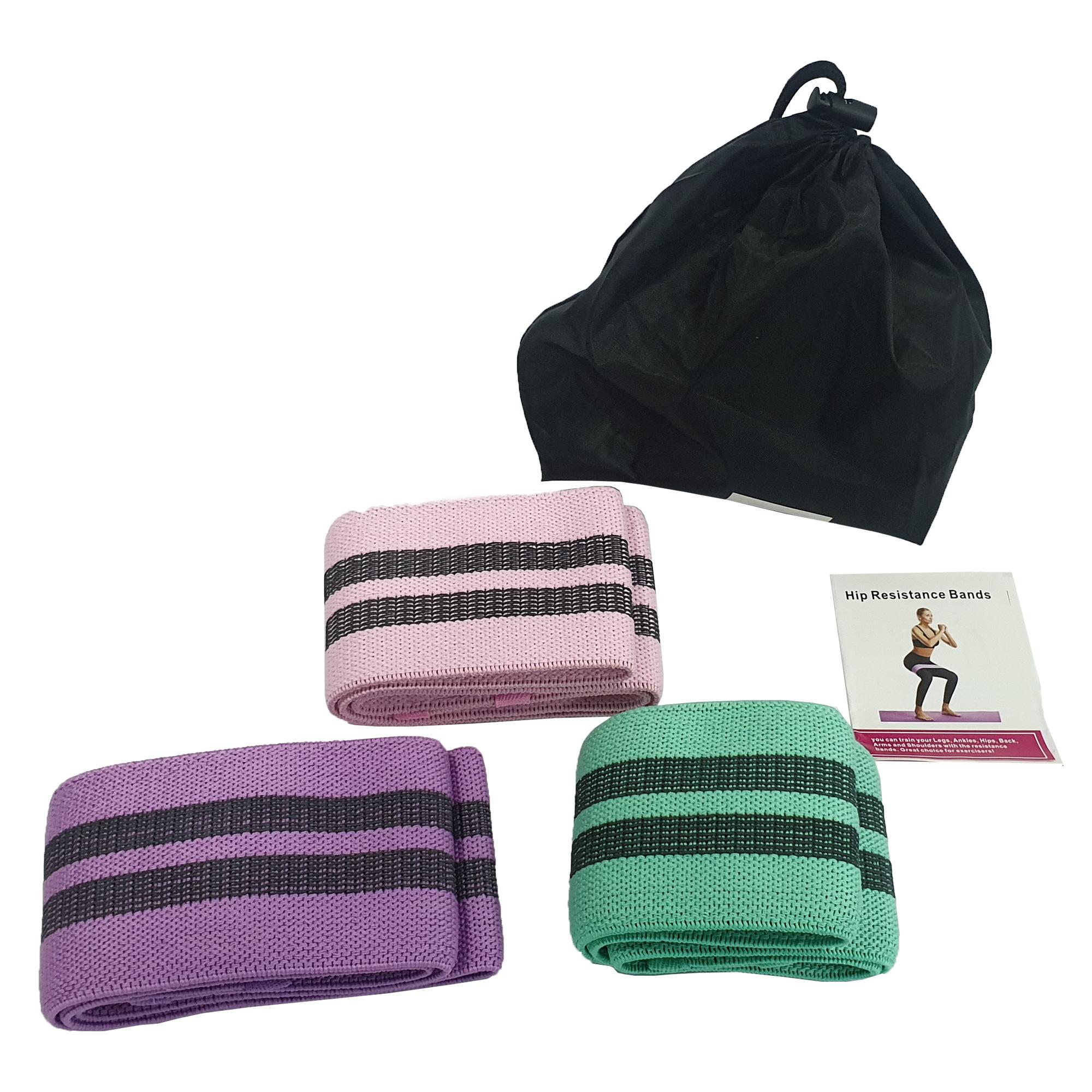 kit 3 bandas de ejercicio elastica